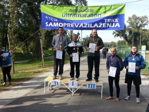12H top finishers at 17th Belgrade Ultramaraton 2013: Daniel and David on the left.