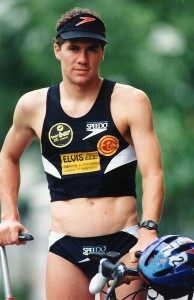 Grega Hočevar as an active top level triathlete