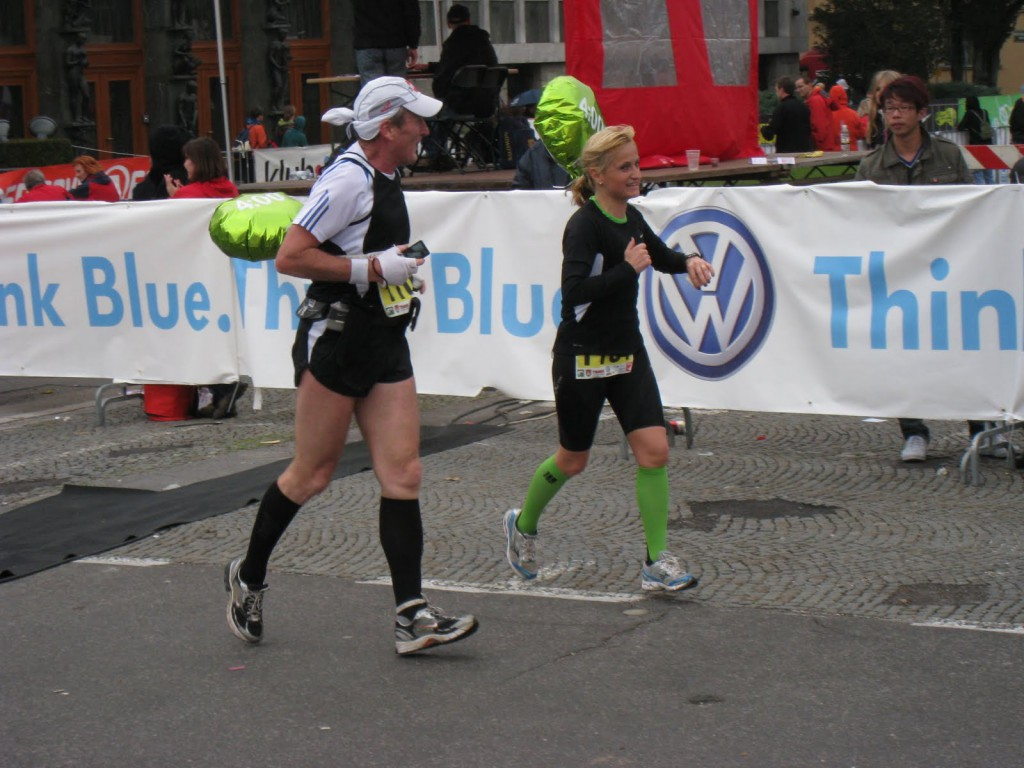 The rabbits at the Ljubljana Marathon - Zdravko Čufar and Nataša Robnik
