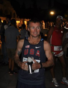Mike Morton minutes before the start of Spartathlon 2013